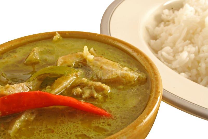 Curry verde tailandese fotografie stock libere da diritti