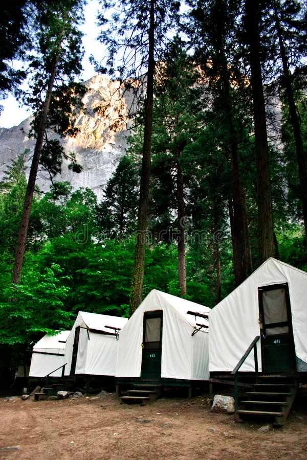 Curry Village, Yosemite National Park royalty free stock image