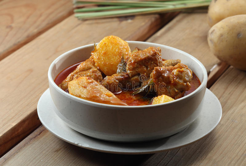 Curryhuhn stockbild