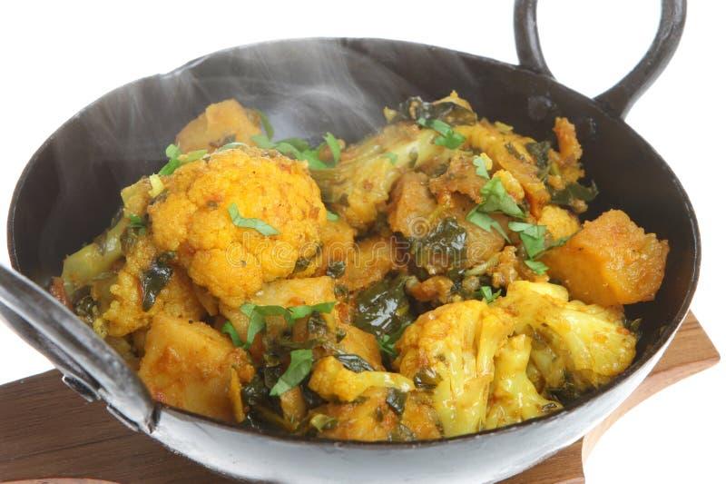 curryindiergrönsak arkivbild