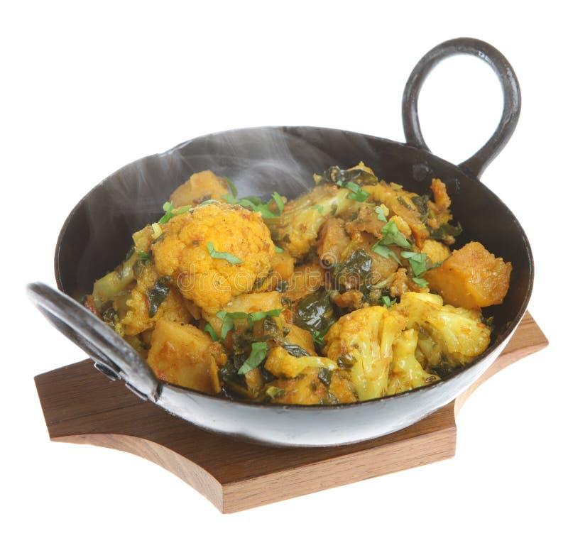 curryindiergrönsak royaltyfria bilder