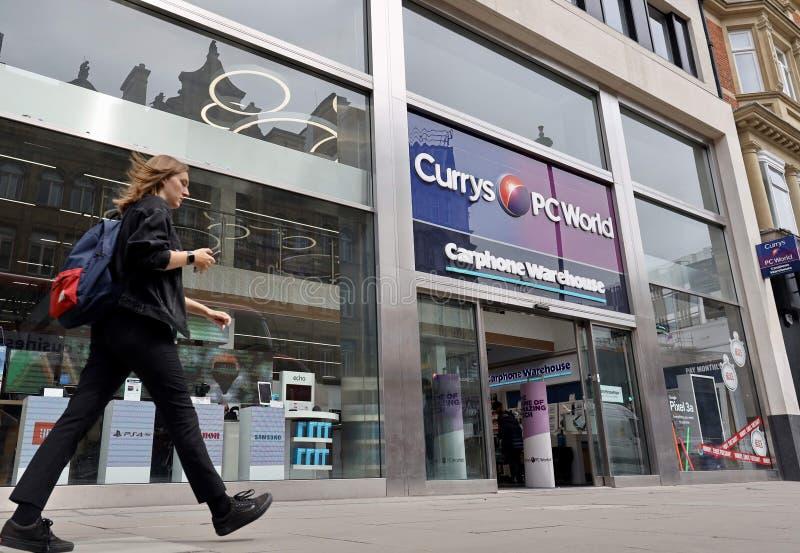 Currys pcworld opslag, de straat van Oxford, Londen royalty-vrije stock afbeelding