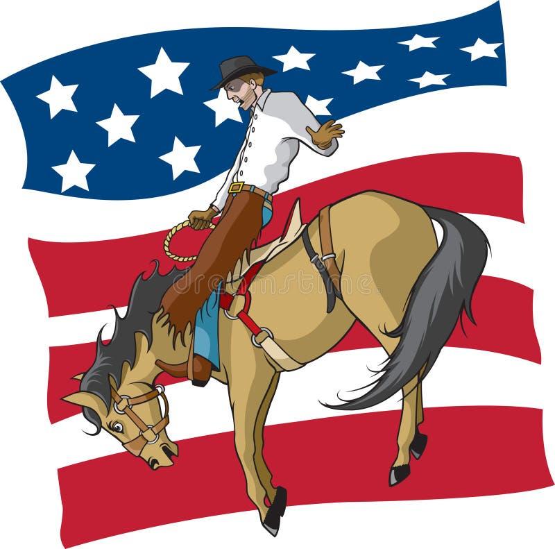 Curseur américain de Bronc de selle illustration stock
