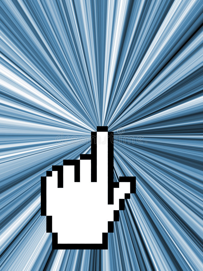 Curseur d'ordinateur - concept d'Internet illustration libre de droits