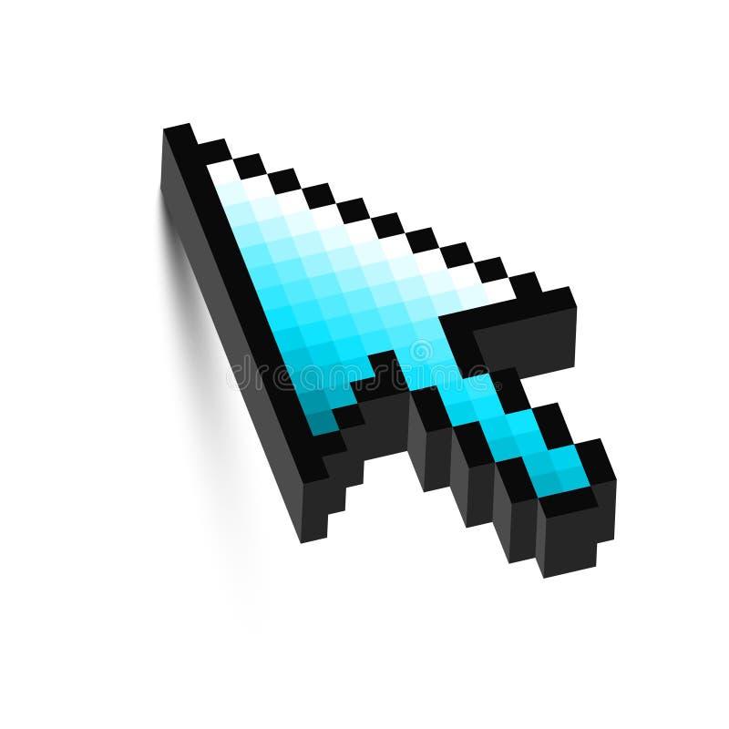 curseur de flèche de la souris 3D avec l'ombre. illustration stock