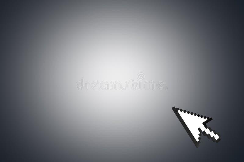 Curseur de flèche de souris sur le coin photo stock