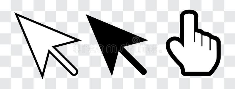 Curseur de flèche et de main illustration stock