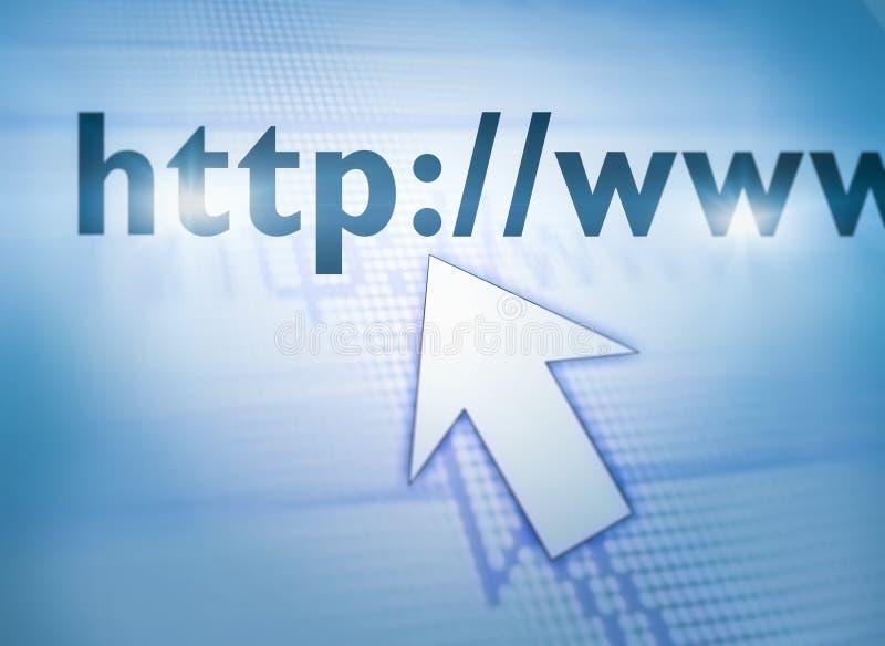 Curseur die Web richten royalty-vrije stock afbeelding