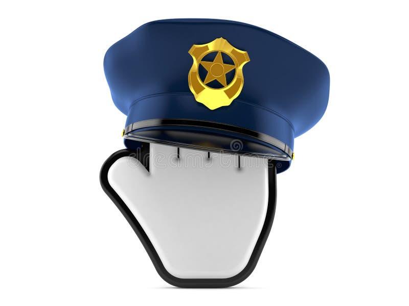 Curseur met politiehoed stock illustratie