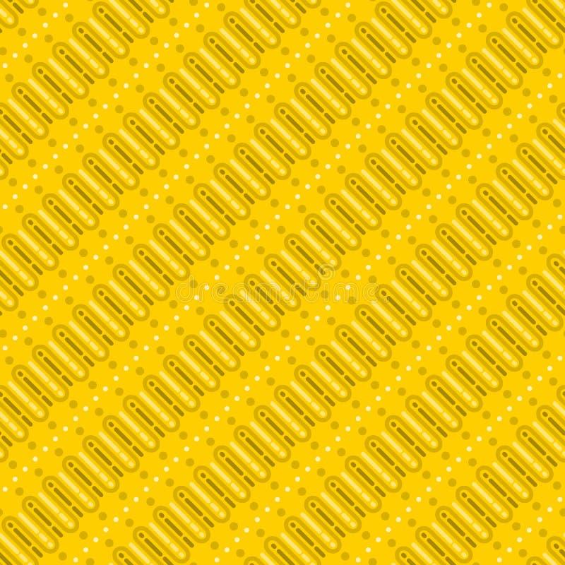 Download Cursief Batik Geel Patroon vector illustratie. Illustratie bestaande uit decoratie - 114227496