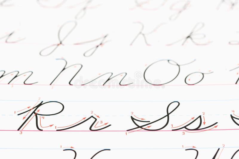 cursive почерк стоковое изображение rf