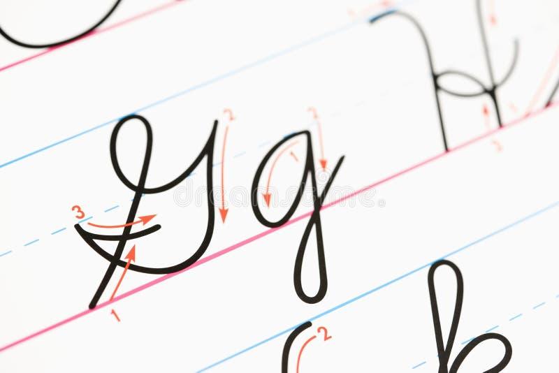 cursive почерк стоковое изображение