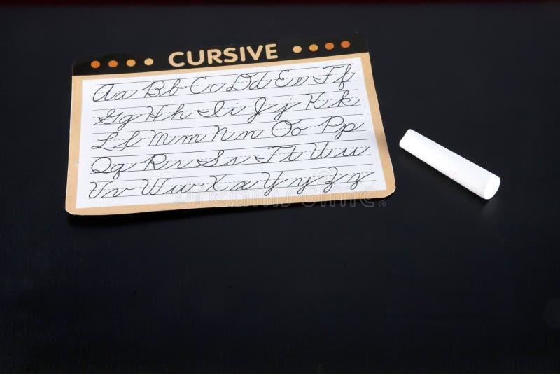 cursive учить стоковое фото