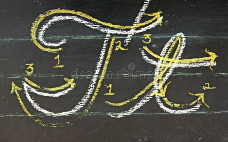 cursive t стоковая фотография