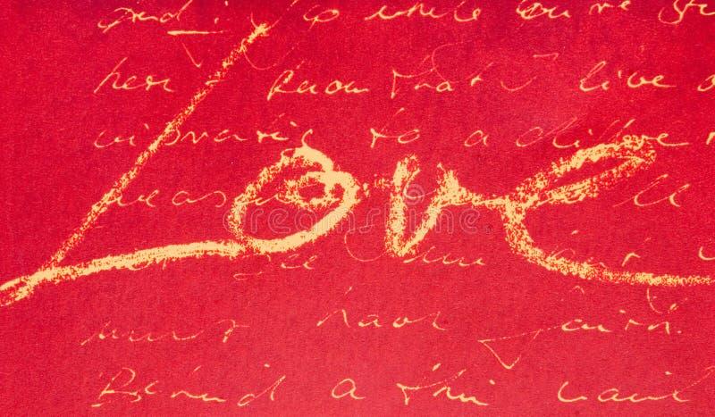 Cursivo del amor imagenes de archivo