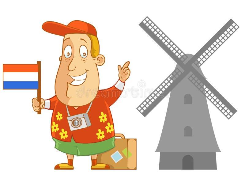 Curso à Holanda ilustração do vetor