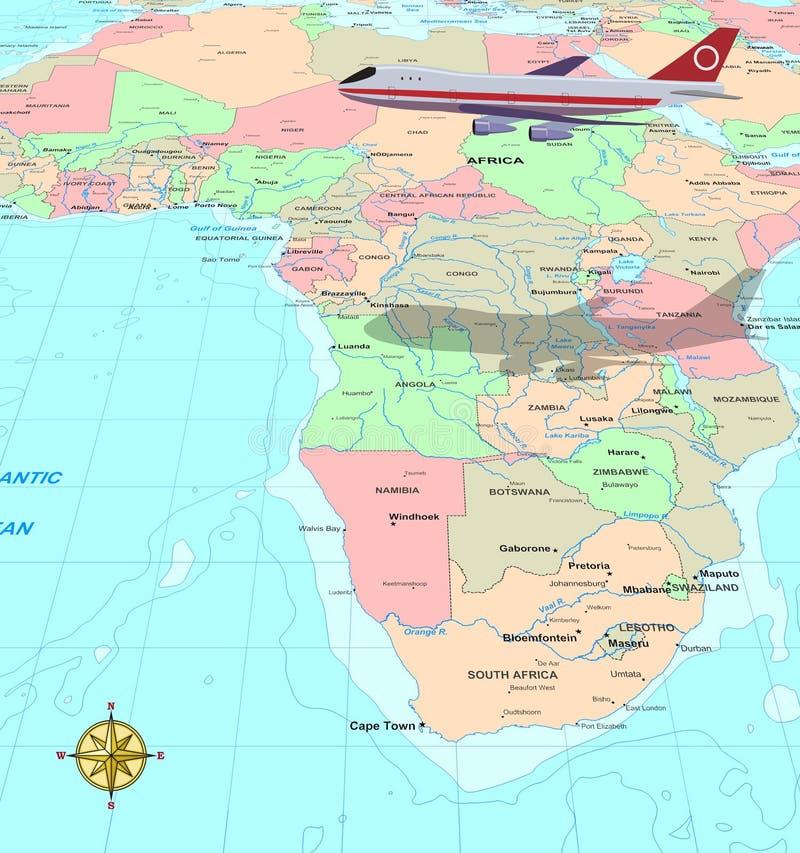 Curso África ilustração stock