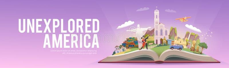 Curso a Ámérica do Sul ilustração royalty free