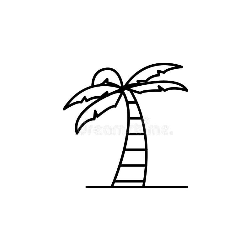 Curso, ícone do esboço do castelo de areia Elemento da ilustração do curso Os sinais e o ícone dos símbolos podem ser usados para ilustração stock