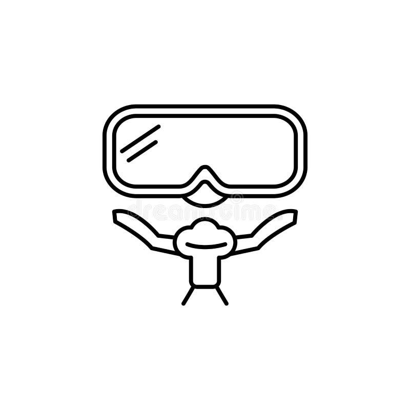 Curso, ícone do esboço do navio Elemento da ilustração do curso Os sinais e o ícone dos símbolos podem ser usados para a Web, log ilustração do vetor