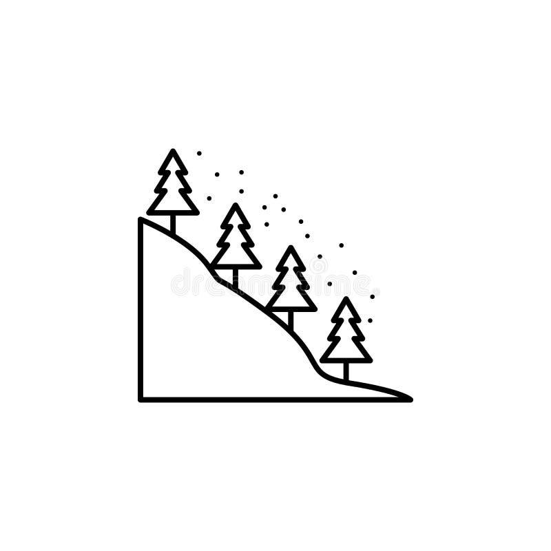 Curso, ícone do esboço do trem Elemento da ilustração do curso Os sinais e o ícone dos símbolos podem ser usados para a Web, logo ilustração royalty free