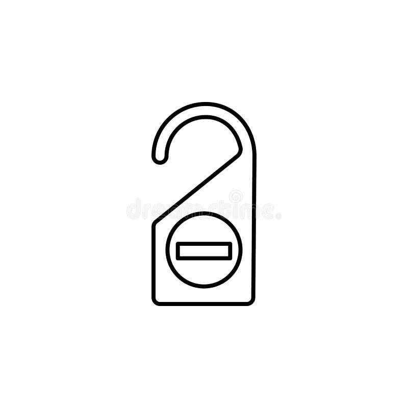 Curso, bilhete, ícone do esboço do trem Elemento da ilustração do curso Os sinais e o ícone dos símbolos podem ser usados para a  ilustração do vetor