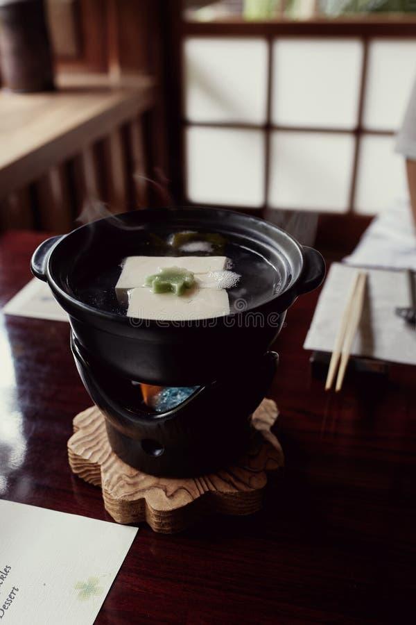 Curso bonito do tofu de Kaiseki em Japão foto de stock