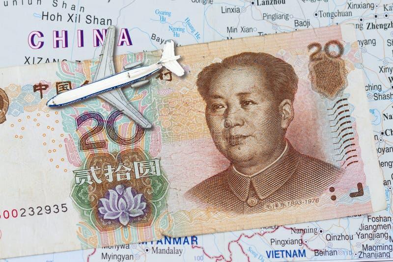 Curso a China fotografia de stock