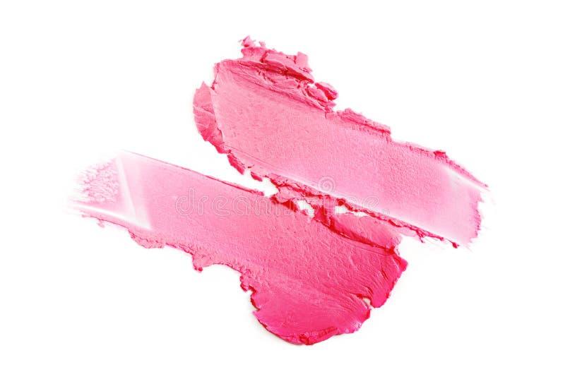Curso cor-de-rosa do batom para a composição como a amostra de produto cosmético fotos de stock royalty free