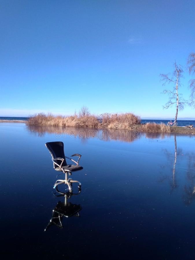 Curso da cadeira do escritório em Sibéria foto de stock