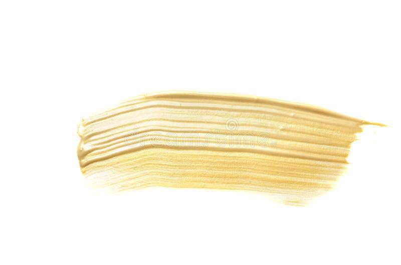 Curso da escova de pintura da cor do ouro fotografia de stock