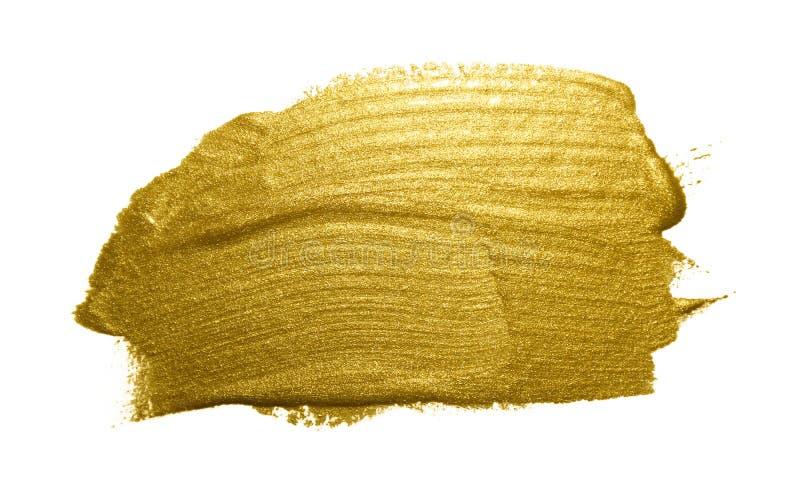 Curso da escova de pintura do ouro ilustração do vetor