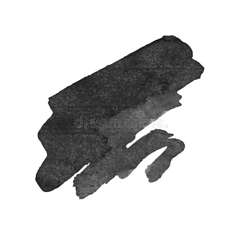 Curso da escova do preto do vetor da pena da tinta do Grunge ilustração stock