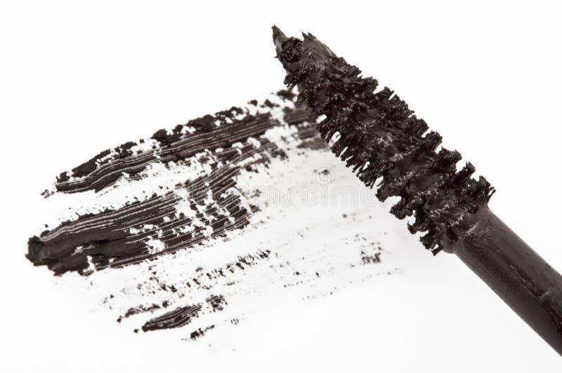 Curso da escova preta do mascara isolada no branco imagens de stock