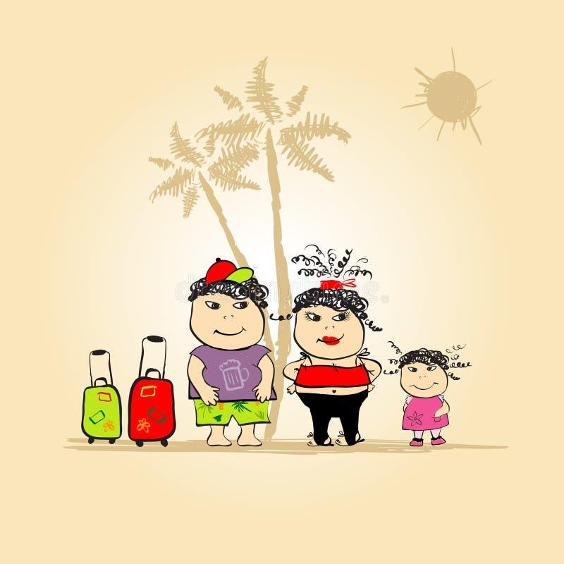 Download Curso Da Família, Férias De Verão Ilustração do Vetor - Ilustração de ilustração, saco: 10056129