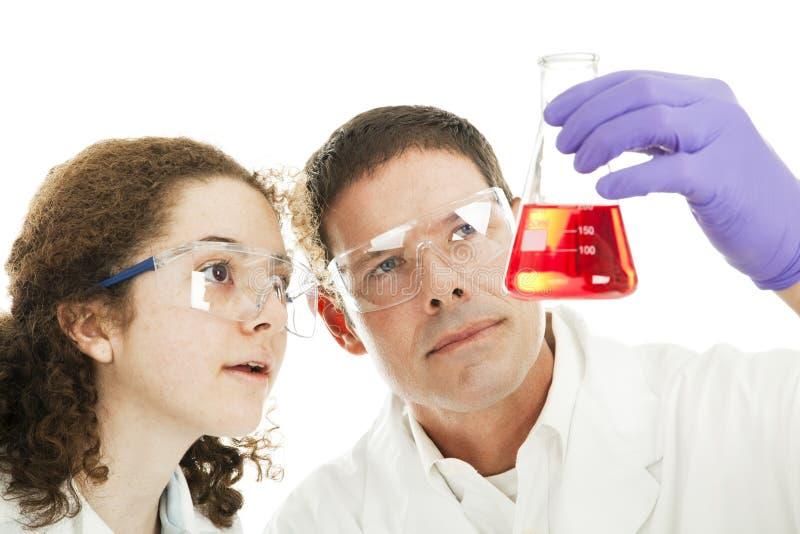 Curso da química da faculdade imagem de stock