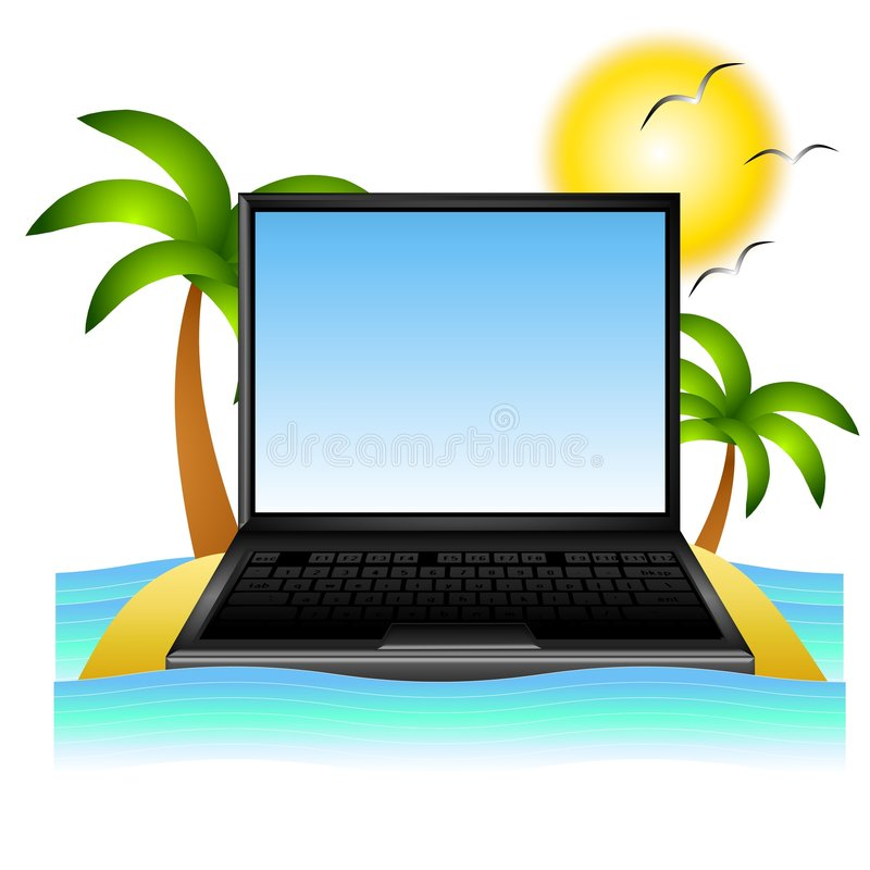 Curso das férias no Web ilustração stock