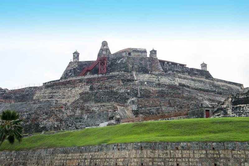 Curso de Cartagena Colômbia, forte espanhol imagens de stock royalty free