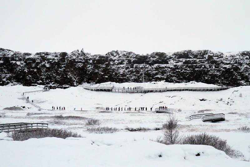 Curso de Islândia foto de stock