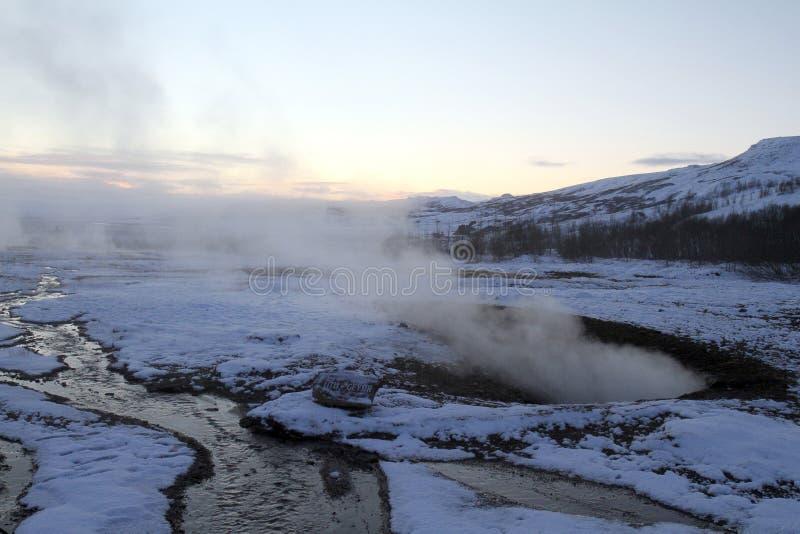 Curso de Islândia imagem de stock