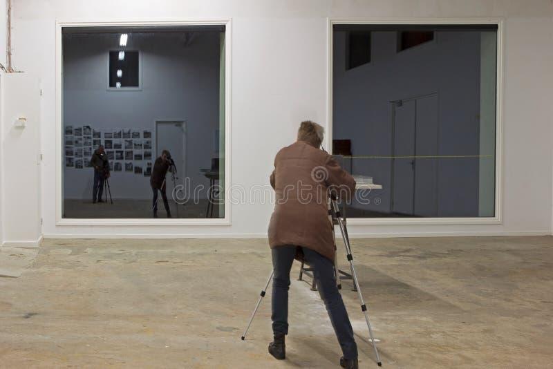 Curso de la fotografía en la lechería anterior, Países Bajos imagenes de archivo