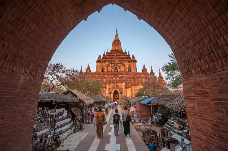 Curso de Myanmar imagem de stock