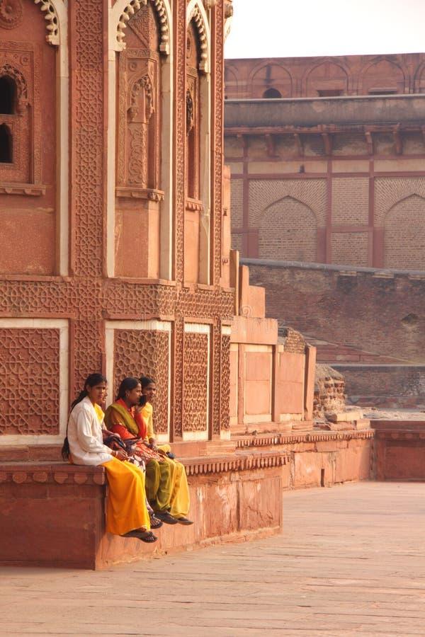Curso de Rajastan, Jawab Masjid e forte de Agra, 2011, dezembro, 31 fotografia de stock