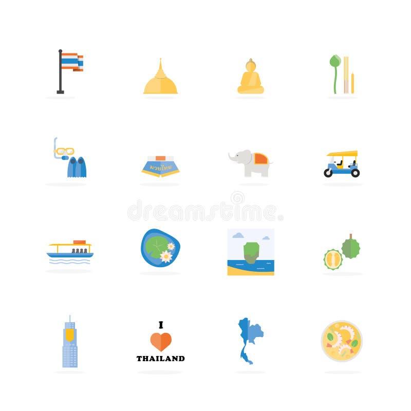 Curso de Tailândia ilustração royalty free