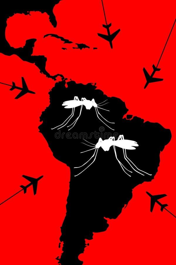 Curso de Zika que varning ilustração royalty free