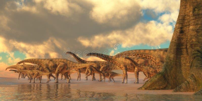 Curso do dinossauro de Spinophorosaurus ilustração stock
