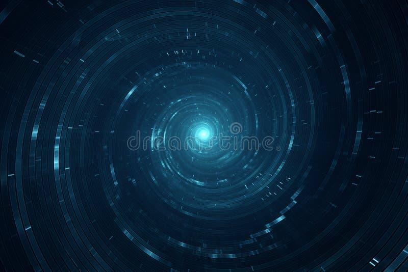 Curso do espaço e do tempo ilustração do vetor