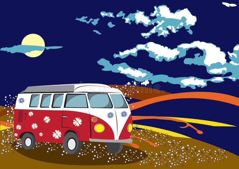 Curso do hippy ilustração stock