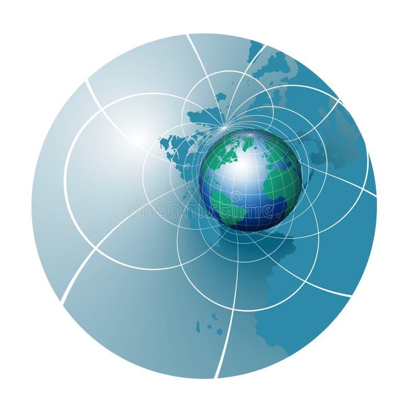 Curso do mundo ilustração do vetor
