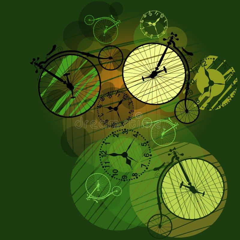 Curso do tempo em torno do mundo ilustração do vetor